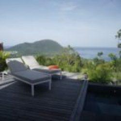 Guadeloupe Deshaies villa 8 personnes,mer et piscine