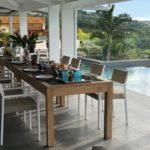 Guadeloupe Deshaies grande terrasse piscine